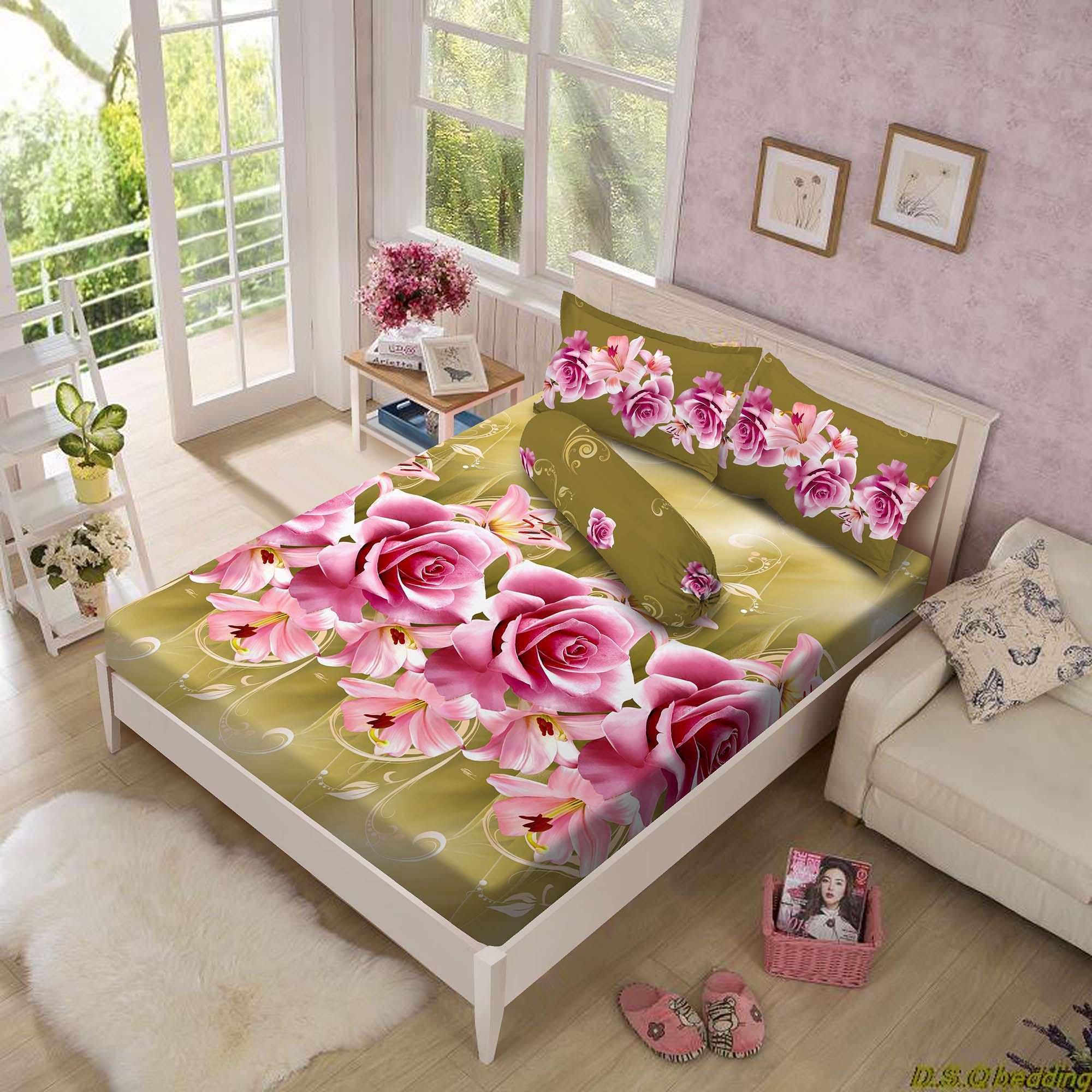 Beli Sekarang Kintakun Luxury Ramona Sprei 180x200x30 Di Indonesia Babybee Fitted Bed Sheet Blue Polkadot 95x65 Cm 160 X 200 B2 Queen Calista