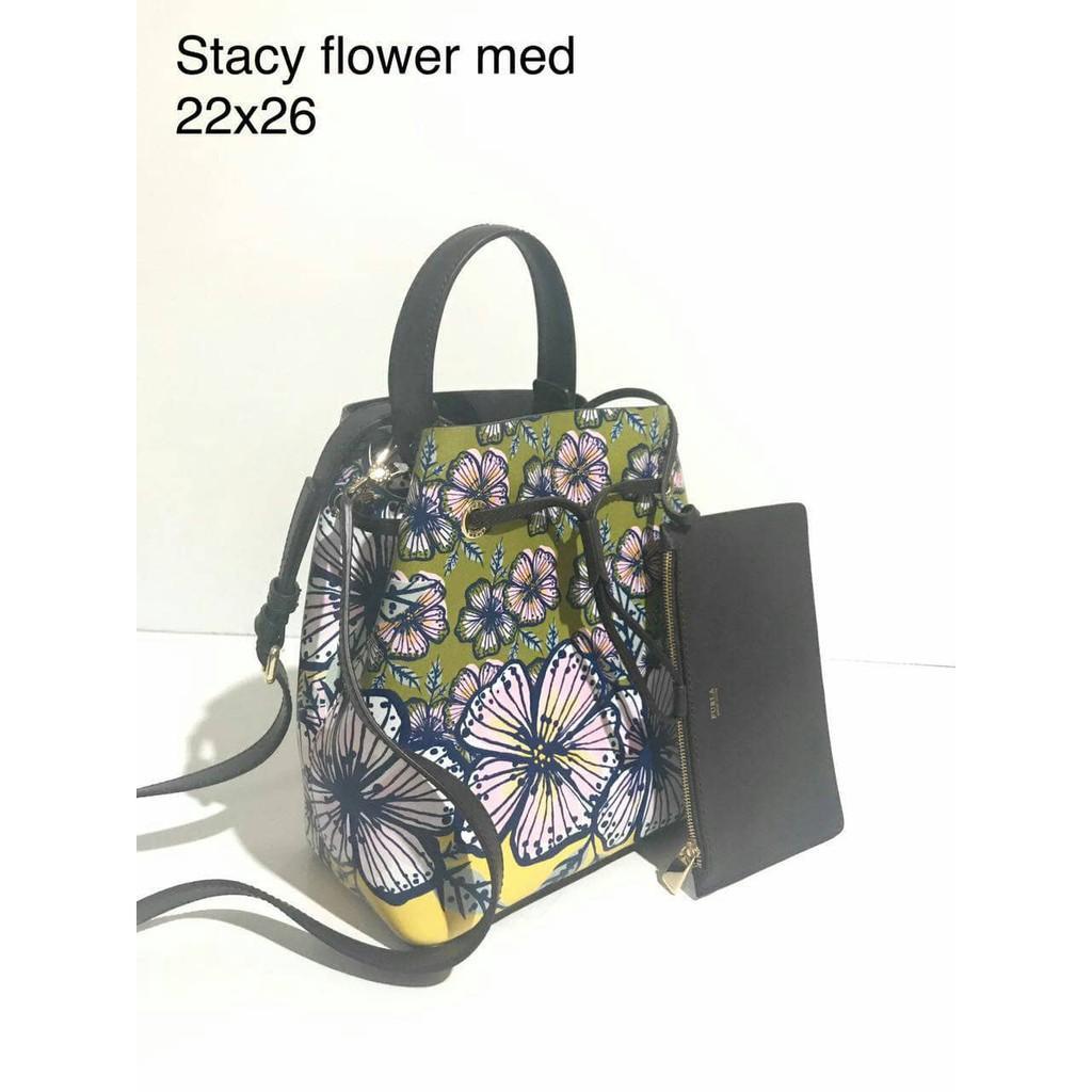 Jual Tas Furla Stacy Flower Original