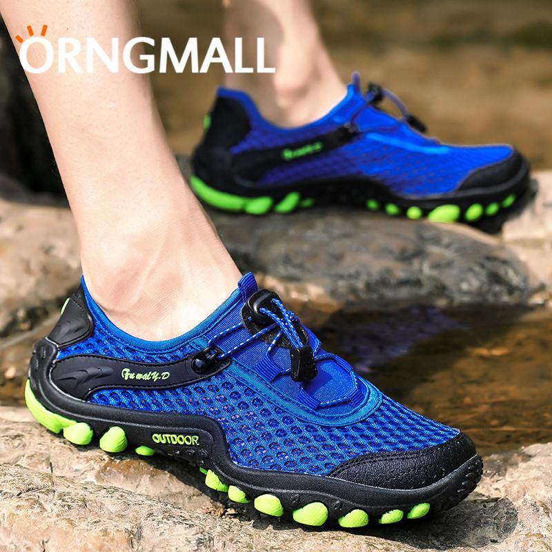 ORNGMALL Sepatu Hiking Pria Untuk Pria Luar Ruangan Berjalan Sport Kasual  Bernapas Mesh Sepatu Trekking Camping Travel Unik Bernapas Desain Comfort  Durable ... 5334929436