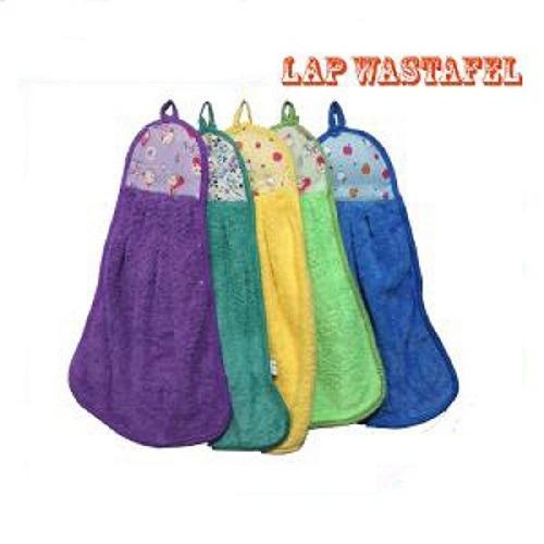 Gambar Produk Rinci Hand Towel Microfiber Chenille / Handuk Kain / Lap Tangan Micro Fiber karakter(Hijau) Terkini