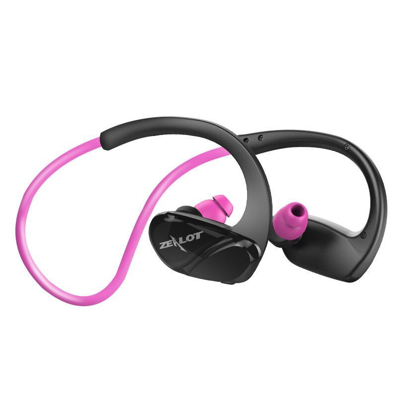 Zelot H6 Kebugaran Kedap Air Bluetooth Stereo HIFI Earphone Wireless Menjalankan Pelantang Telinga Olahraga dengan Mikrofon