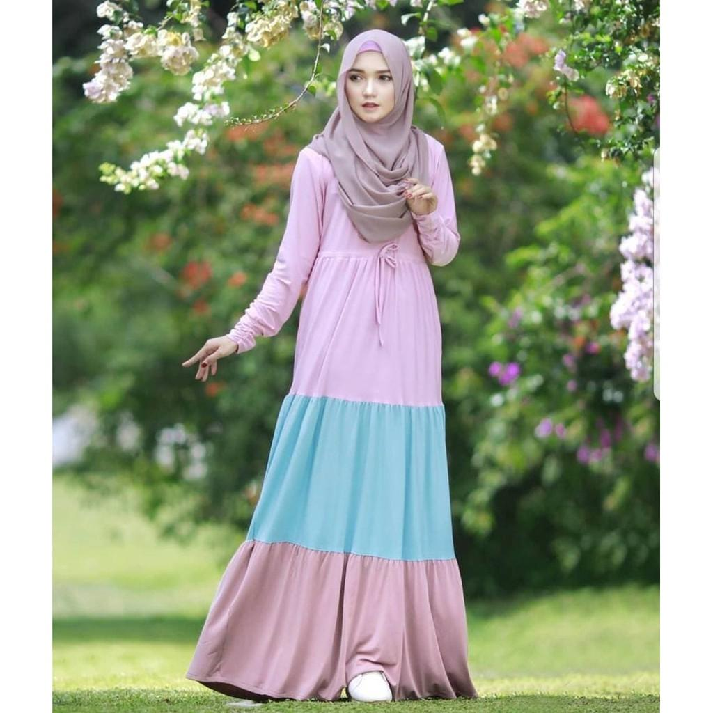 Jual  Murah Dress Murah/Grosir Dress Murah/MAULIDA DRESS VG01