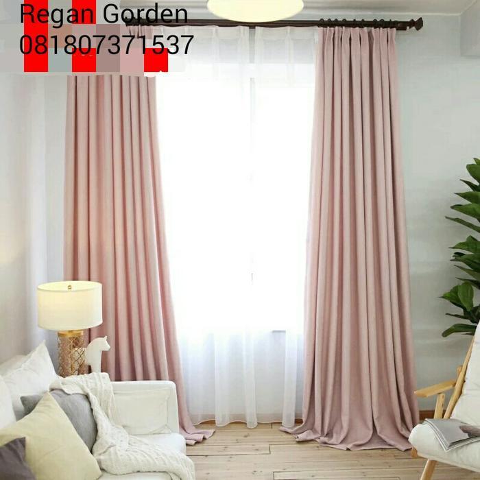 ... Alona Ellenov Gordyn Double Katun Motif Barcelona Merah Daftar Source Gorden Polos Pink Soft Black