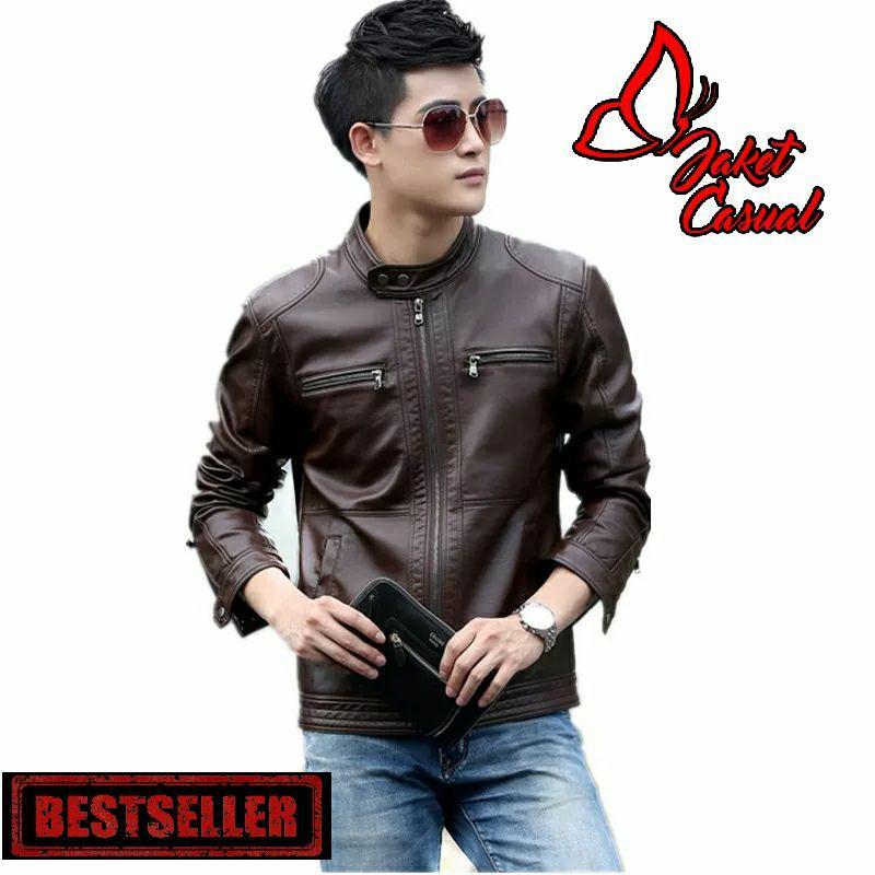 Jaket Kulit Biker Bandung & Jaket Kulit Style Korea & Jaket Casual Pria