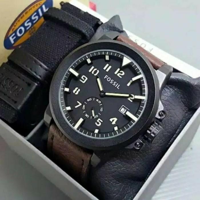 [Jam Tangan Pria Keren + Murah] Fossil Paket Chrono Aktif Premium