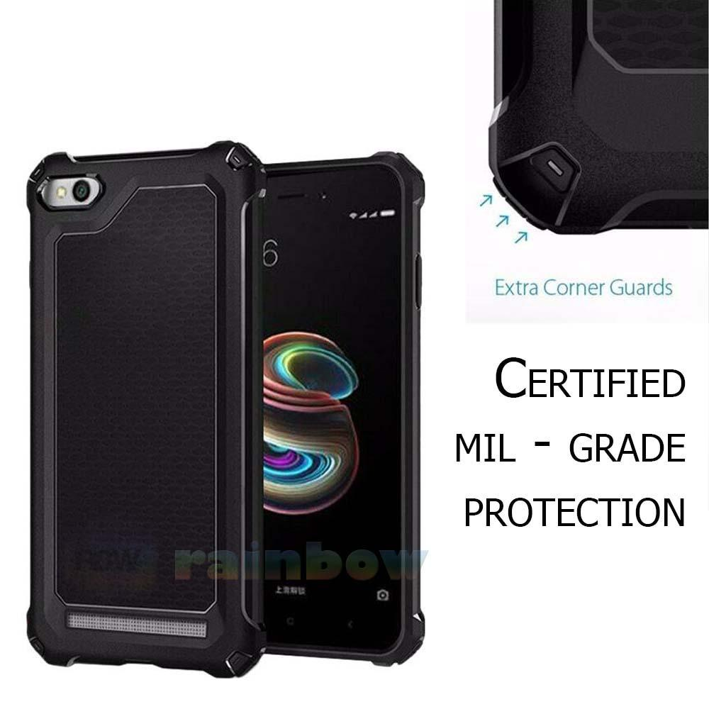 Rainbow Xiaomi Redmi 5A Soft Case Ultra Rugged Capsule Slim Air Cushion Tecknologi Line Glossy Design & Spider Interior Anti Slip Anti Shock / TPU Silikon Back Cover / Silicone Case / Softshell / Case Hp / Casing Xiaomi Redmi 5A - Hitam