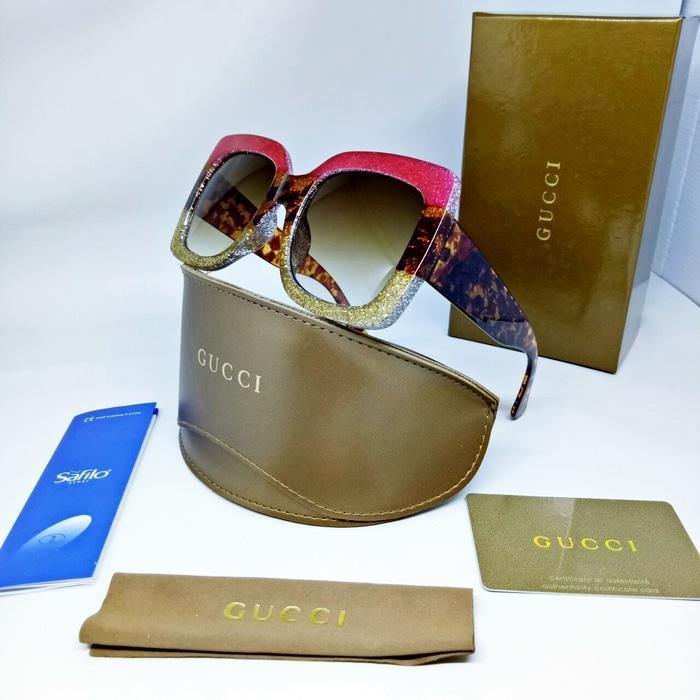 Kacamata / Sunglass Wanita Gucci Syahrini Fullset + Cairan Pembersih