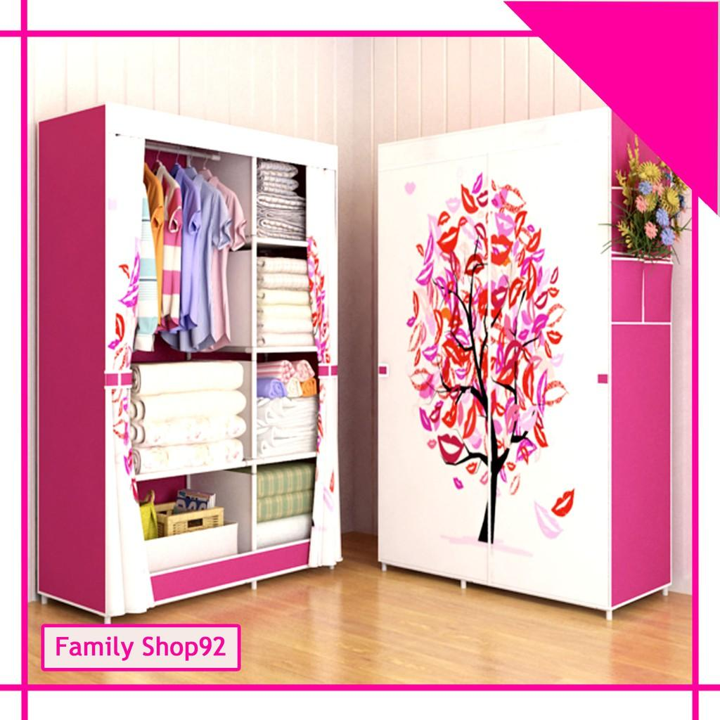 FS TREE Multifunction Wardrobe / Cloth Rack Cover Lemari Pakaian