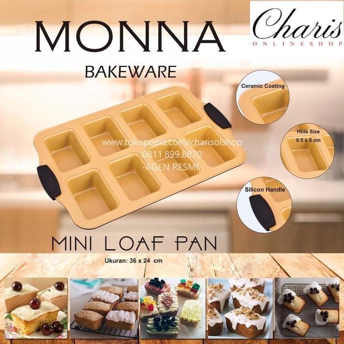Signora Monna Bakeware - Mini Loaf Pan Loyang Kue Roti Unyil - Xophso