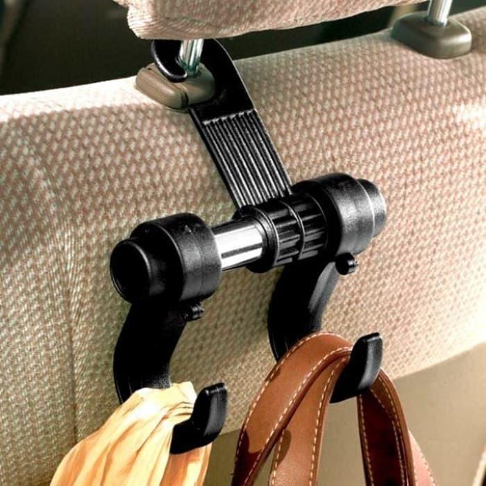 Cantolan Mobil / Cantelan Mobil / Gantungan Kursi Jok Untuk Di Mobil - Car Hanger Warna Hitam Good Quality