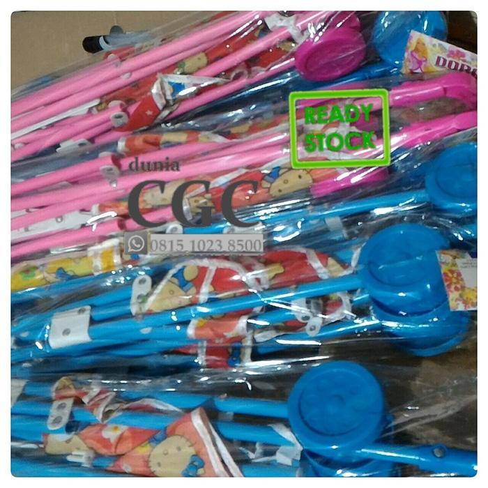 Kereta Dorongan Bayi Boneka LARGE Mainan Edukasi Anak Biru Pink Promo