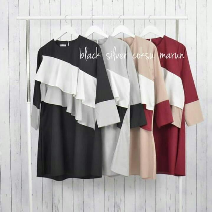 Tunik Tasya Tunic Wolfice Baju Wanita Muslim Panjang Blus Modern Atasan  Jaket Hijab Casual Pakaian Modis 3c720e07fd