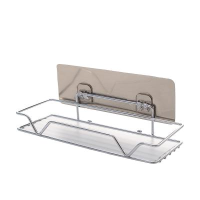 Bathroom Storage Shelf Wall Hangers Bathroom Toilet Bathroom Washbasin Storage Supplies Suctorial-Free Punched By Taobao Collection.