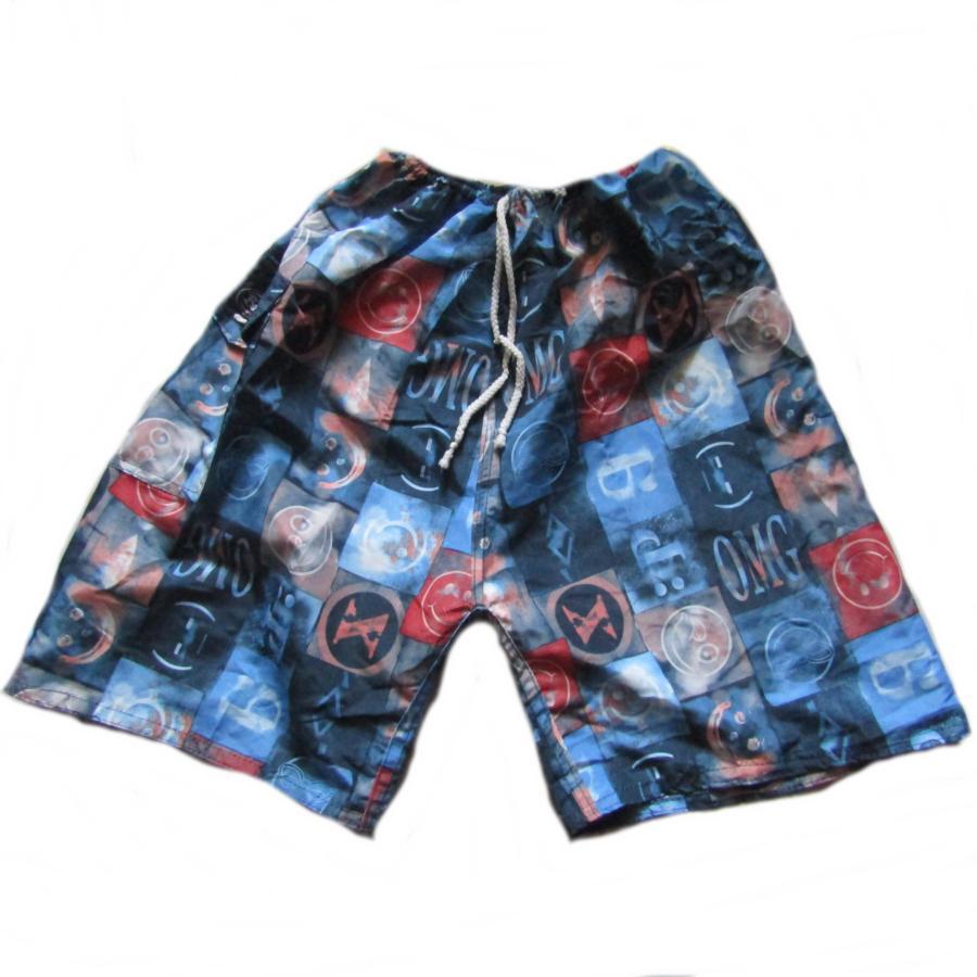 Celana pantai motif kotak