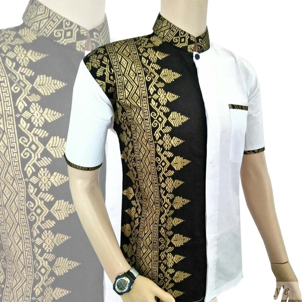 PROMO baju koko Putih / baju muslim pria/ gamis pria terbaru lengan panjang/ keren /murah