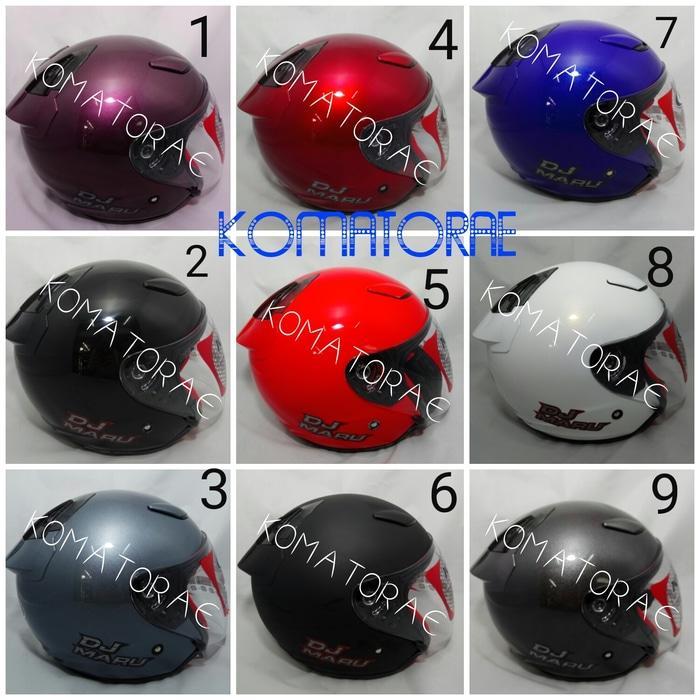 Helm KYT DJ Maru purple red white black blue abu