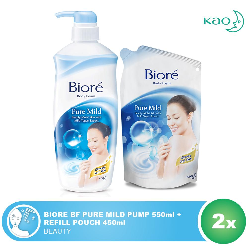 Kelebihan Mens Biore Body Foam White Energy Refill 450ml Terkini Gamis Raindoz Bbr233 Pure Mild Pump 550ml