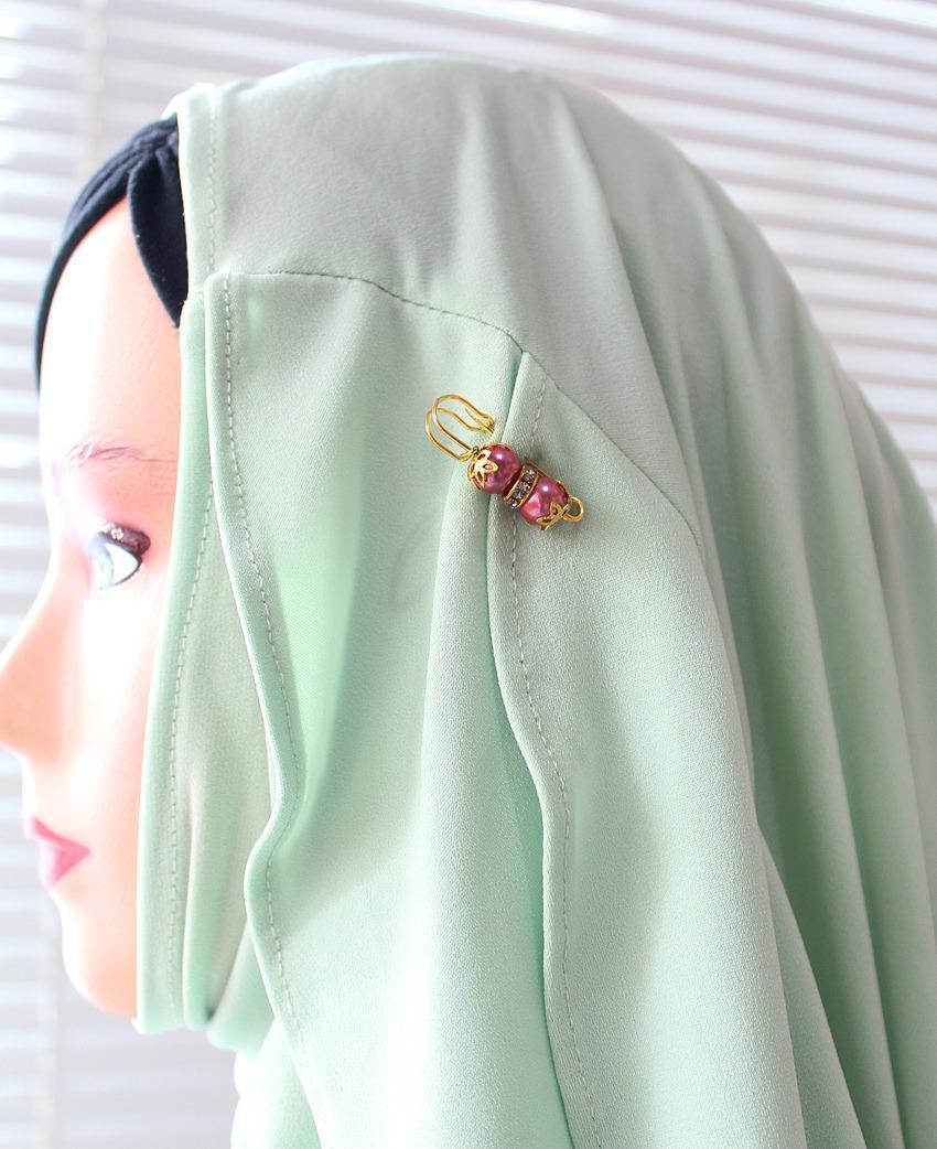 Nafiza - Bros Mini Peniti Hijab Kristal Andira Merah