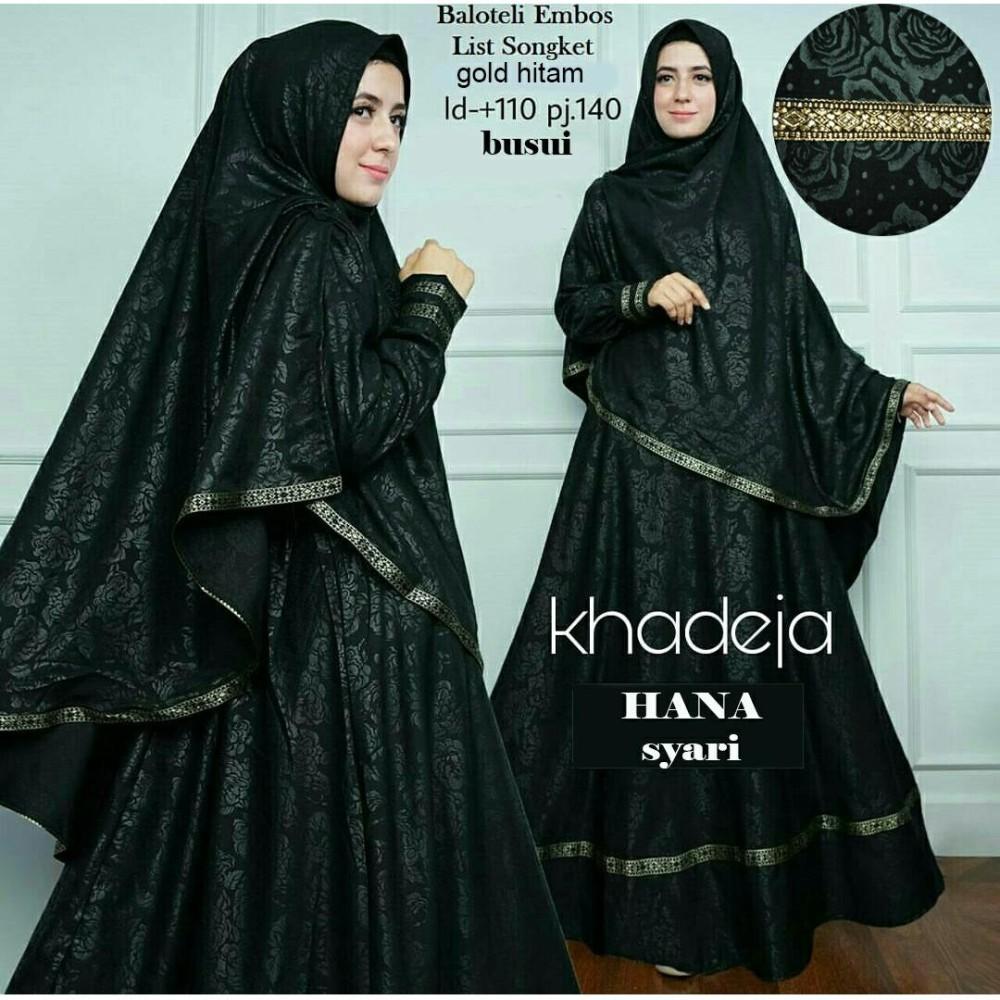 Alasxyashop Baju Gamis Muslim Anna / Dress Muslimah / Hijab Muslim / Gamis Syari'I / Baju Gamis / Fashion Muslim / Setelan Muslim / Hijab Wanita / Baju Muslim / Maxi Gamis / Fashion Muslim