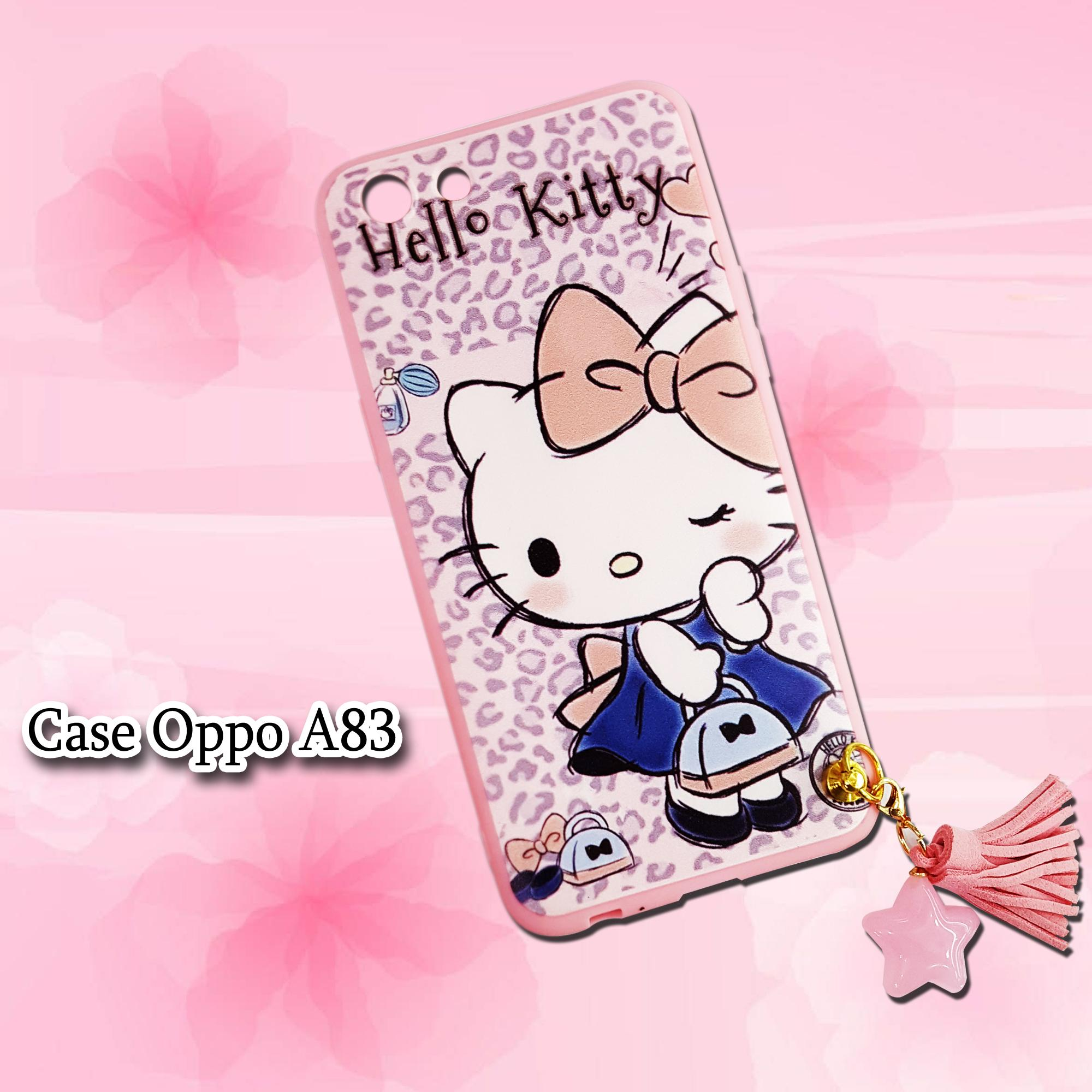 Softcase Hello Kitty Love Gantel New For Oppo A83