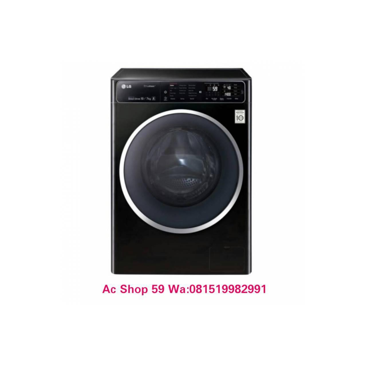 MESIN CUCI LG 10 KG+DRYER F-1400HT1B FRONT LOADING DD INVERTER DIRECT