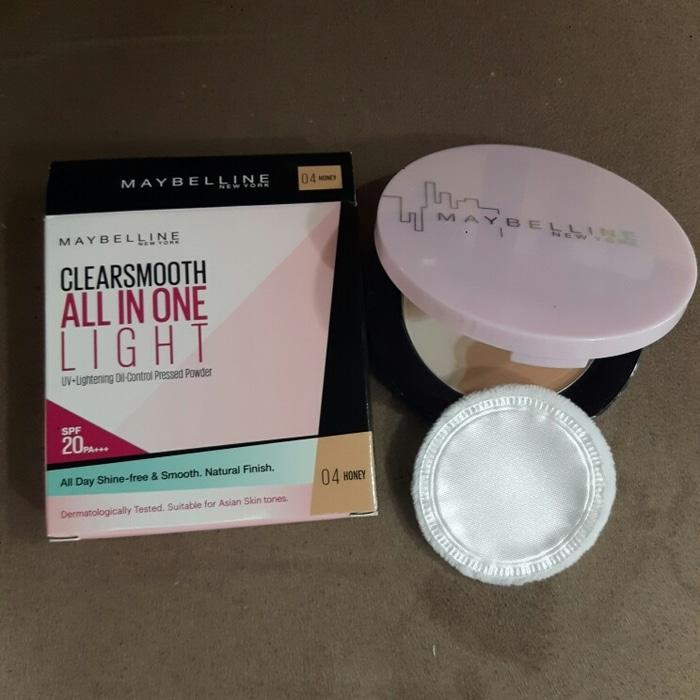 PROMO MAYBELLINE CLEARSMOOTH ALL IN ONE LIGHT PRESSED POWDER/ COMPACT BULAT TERLARIS