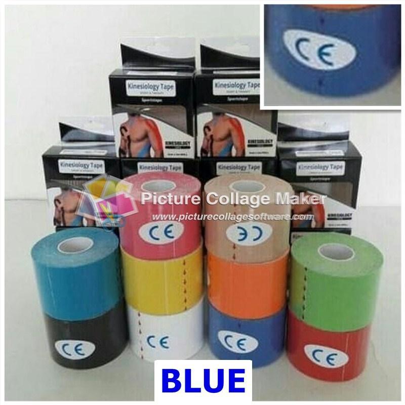 ORIGINAL Kinesiology Tape / Kinesio Sports Tape 5cm x 5m - BLUE