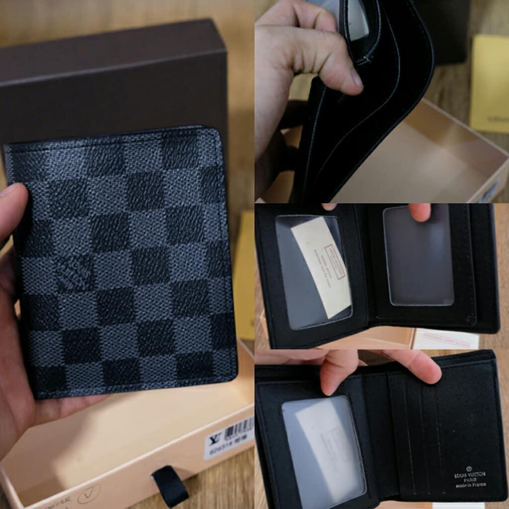 dompet wallet Louise Vuitton damier black