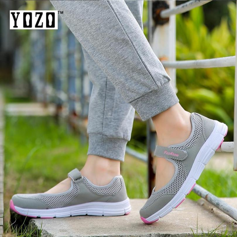 YOZO Casual Mother Shoes Lightweight Shoes WomenS Shoes Comfortable Breathable Elderly Shoes Mesh Shoes - intl giá rẻ