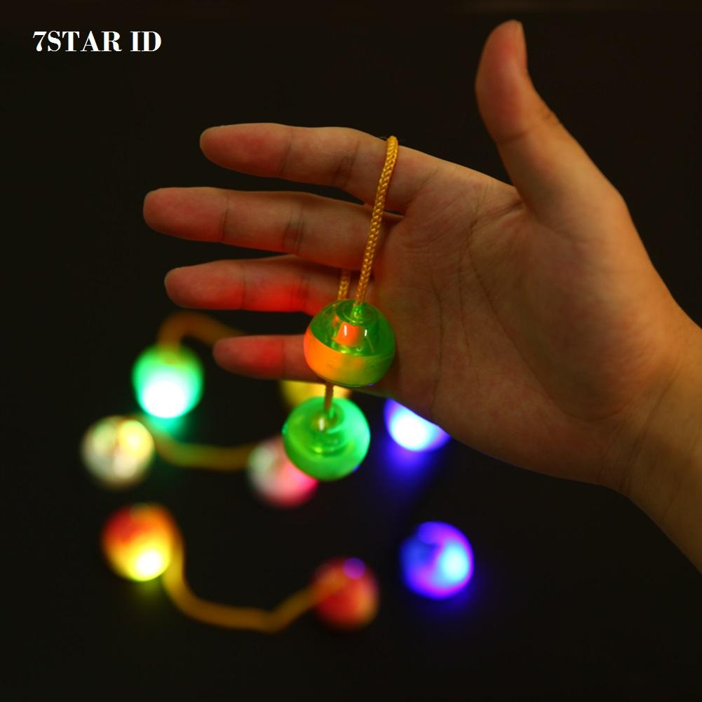 Cek Harga Baru Tm Finger Yoyo Thumb Chucks Ball Skill Fidget Aimons Spinner Spiner Hand Toys Random Color Led 7star Lampu Chuks Glow In The Dark