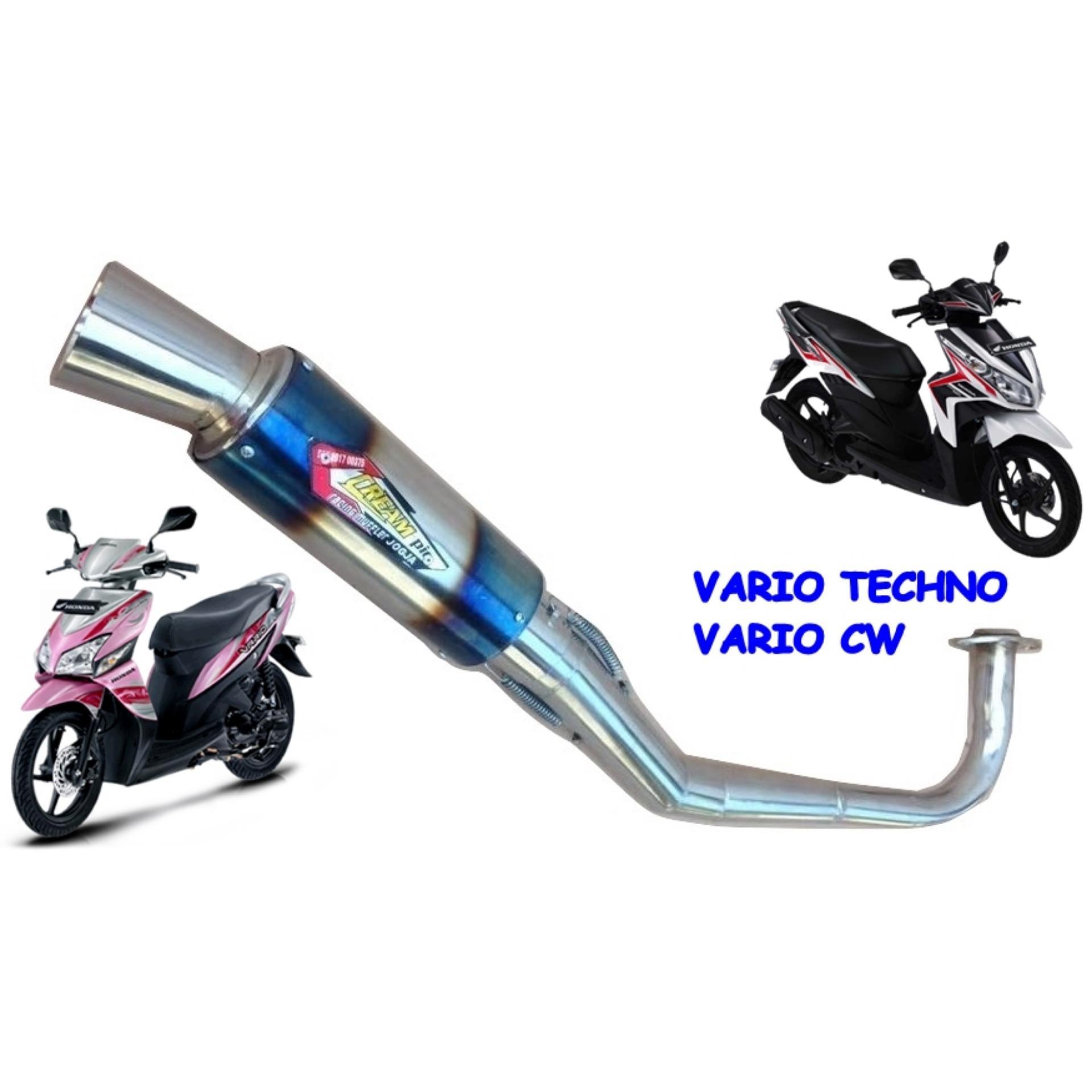 Knalpot Motor VARIO TECHNO & CW 110 - CREAMPIE - BIRU