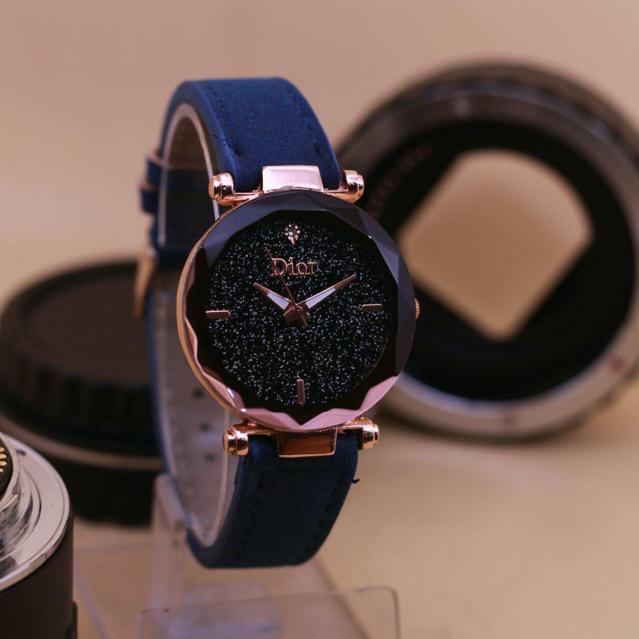 PROMO TERBATAS!!! jam tangan wanita dior-alba-fossil-swiss army-tetonis - leather strap model terbaru 2018 best seller