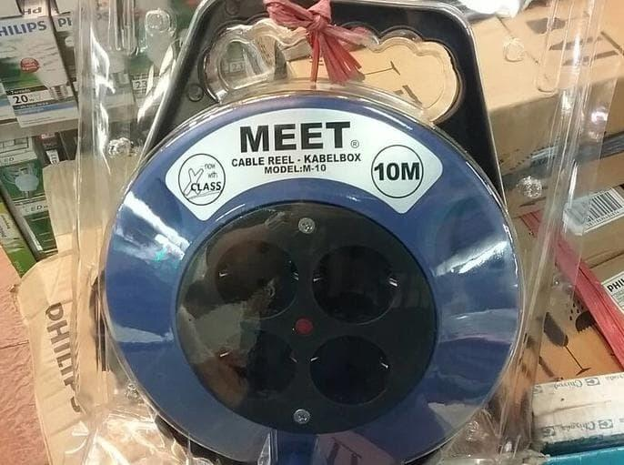PROMO - KABEL ROLL EXTENSION REEL MEET 10 METER / KABEL BOX 10 MTR
