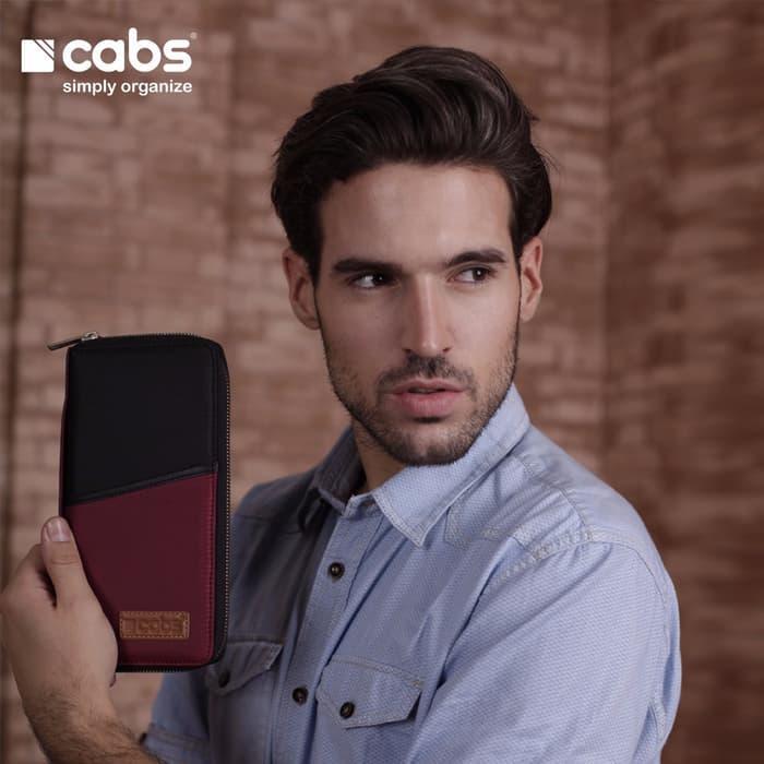 Cabs Pocket Zayn - Dompet Wanita & Pria HPO Organizer Dompet Kartu Branded Serbaguna Dompet Lokal Cewek Cowok Wallet Card Holder Multifungsi - Maroon