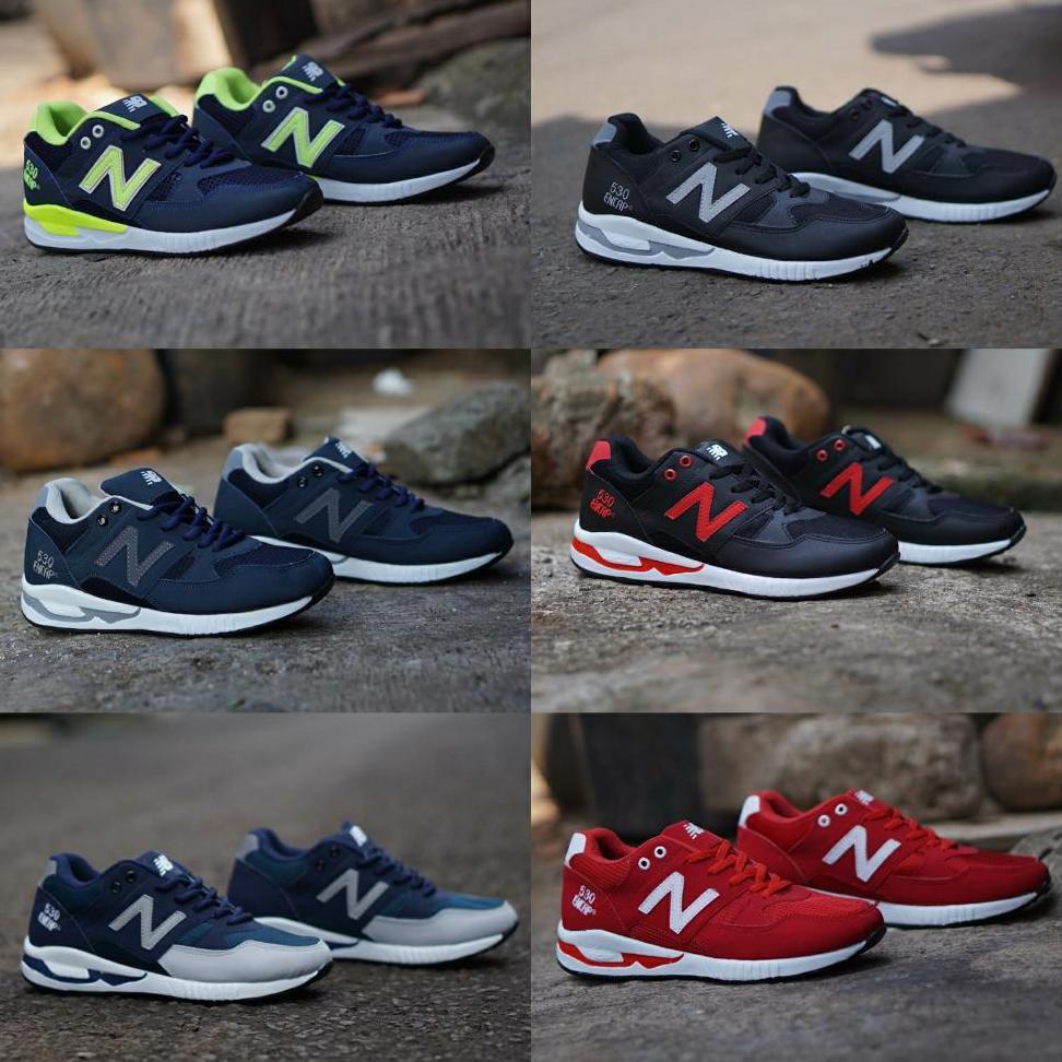 New Balance Encap 530 size 39 - 43 sepatu pria olahraga sports running lari merah navy hitam tosca