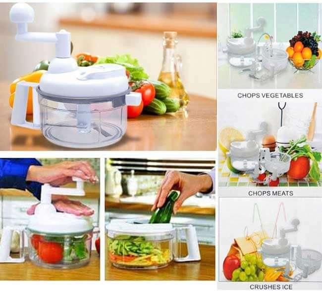 SWIFT CHOPPER MANUAL FOOD PROCESSOR FOOD CHOPPER SALAD SPINNER / PENGGILING SAYUR DAN BUAH-BUAHAN