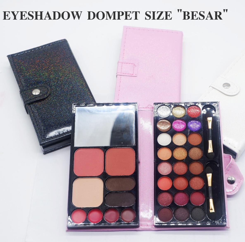 Mesh Eyeshadow Dompet BIG Size Palette Make Up Blusher Powder Lipstick Eyebrow All in One - 1 Pcs UKURAN BESAR