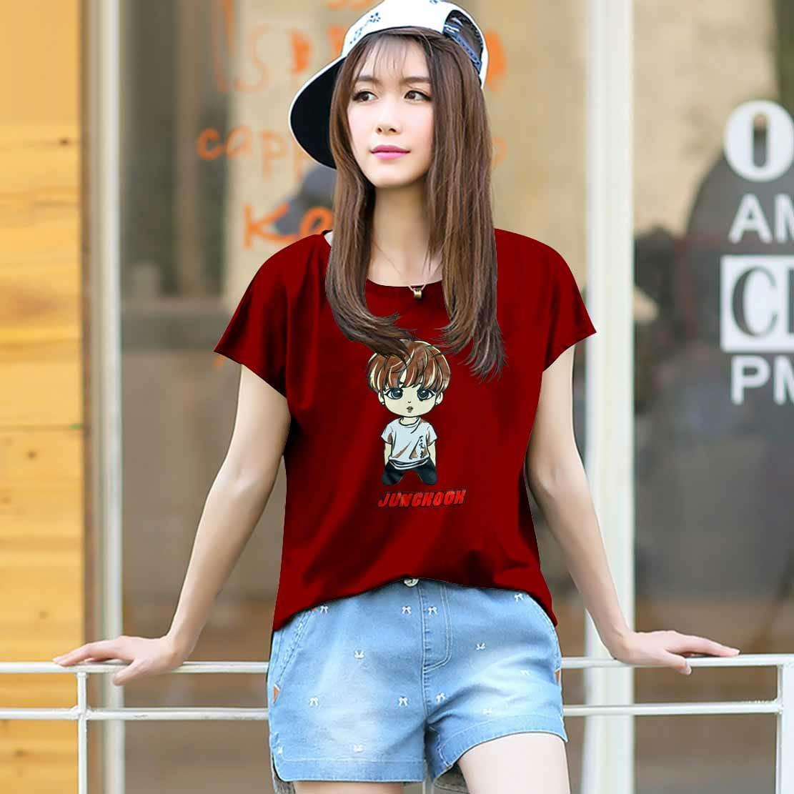 Vanessa Tumblr Tee / T-Shirt BTS JUNGKOOK / T-shirt Wanita / Kaos