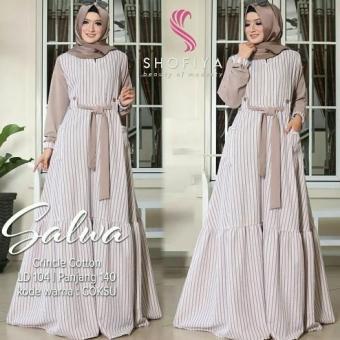 Beli sekarang FASHION MUSLIM Maxi Salwa Salur Coksu Fashion Wanita Gamis  Dres Baju Muslim terbaik murah 2beb710753