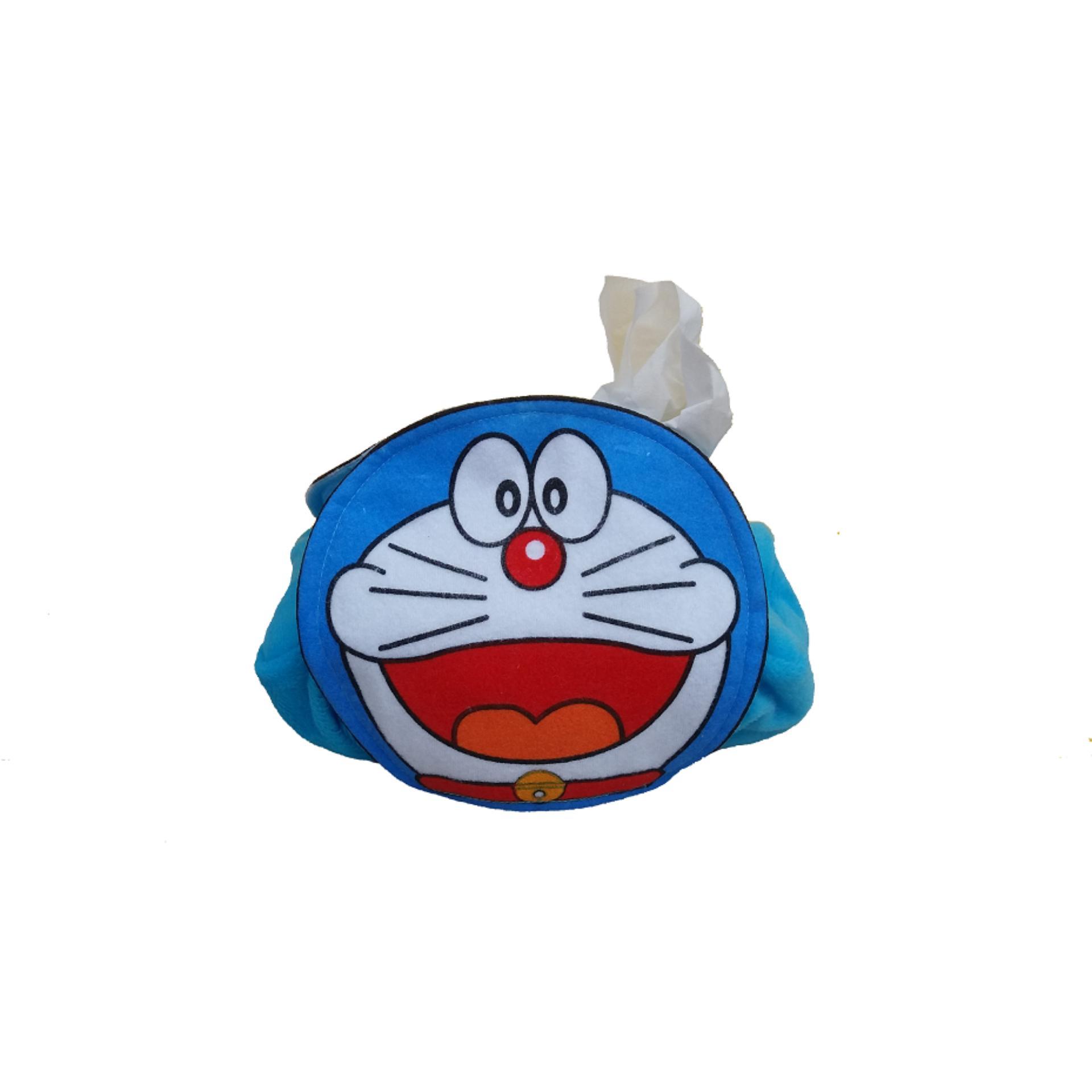 Doraemon Karakter Tempat Tissue Motif Sablon