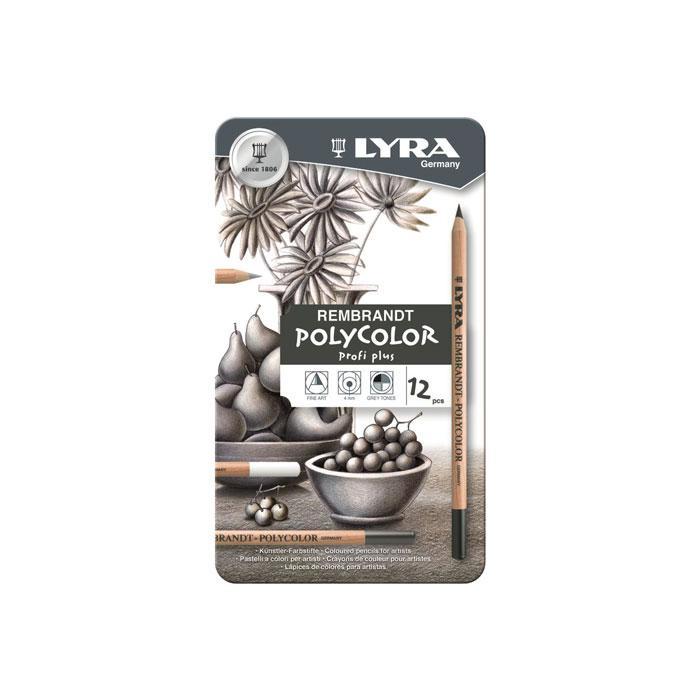 TERMURAH LYRA REMBRANDT Polycolor Profi Plus 12 pcs Set Alat Seni Lukis