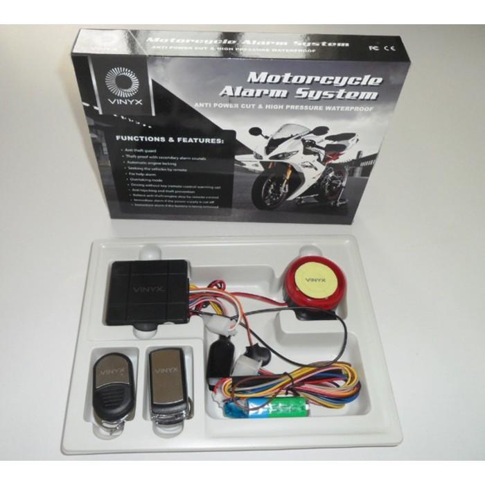 Alarm Motor Merk Vinyx + Baterai Cadangan Anti Maling / Viynix - Dgnsg Dksjfbas