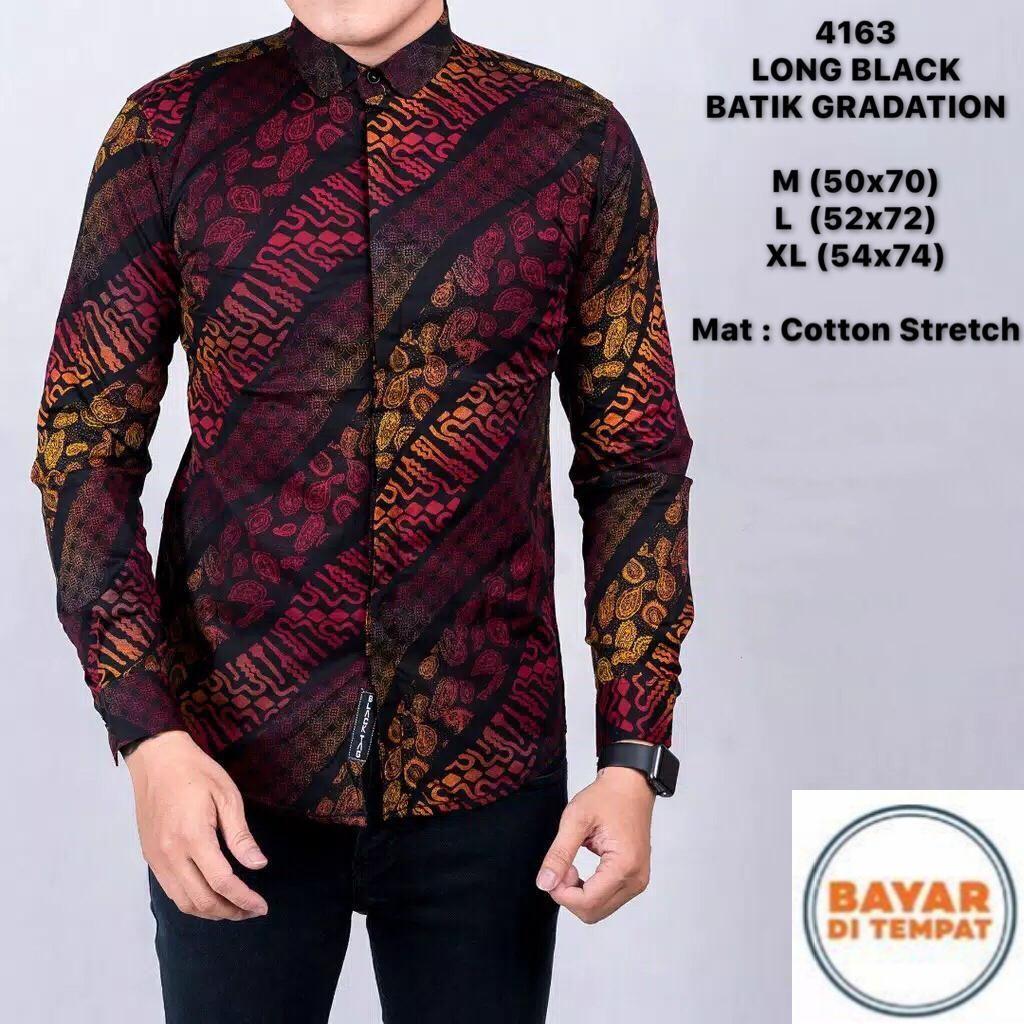 Jual Baju Batik Terbaik Kemeja Pria Prada Lengan Pendek 2 Layer Mlxl Formal