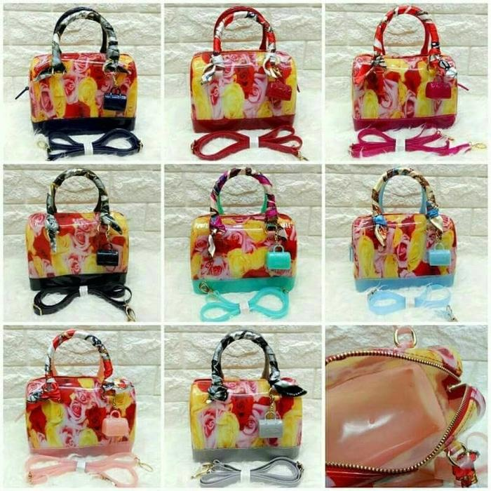 TAS FURLA JELLY FLOWER SEMI ORI # - y3DqYc