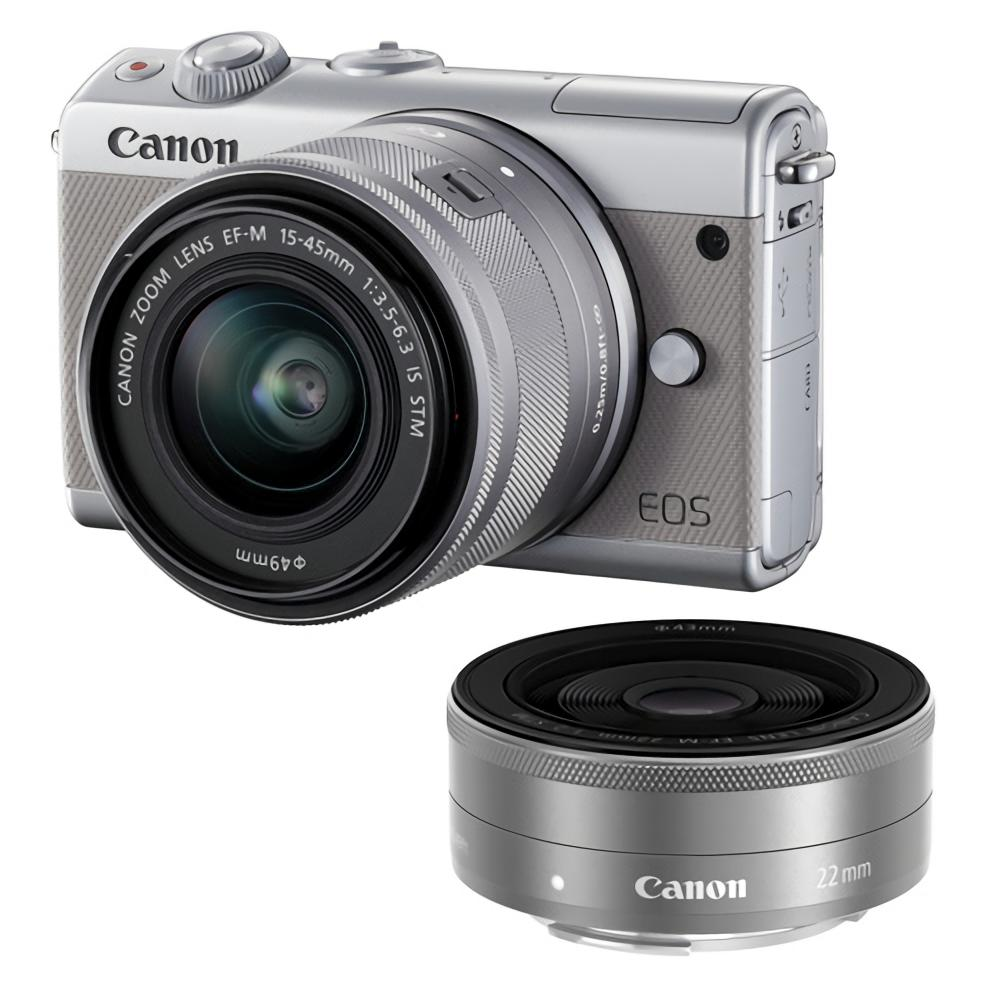CANON EOS M100 KIT EF-M 15-45MM BUNDLING EF-M 22MM GREY
