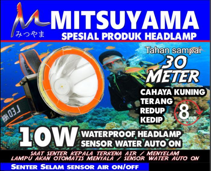 Senter Kepala Selam / Senter Kepala Diving Sensor & Waterproof MS-211 - jvVlyc