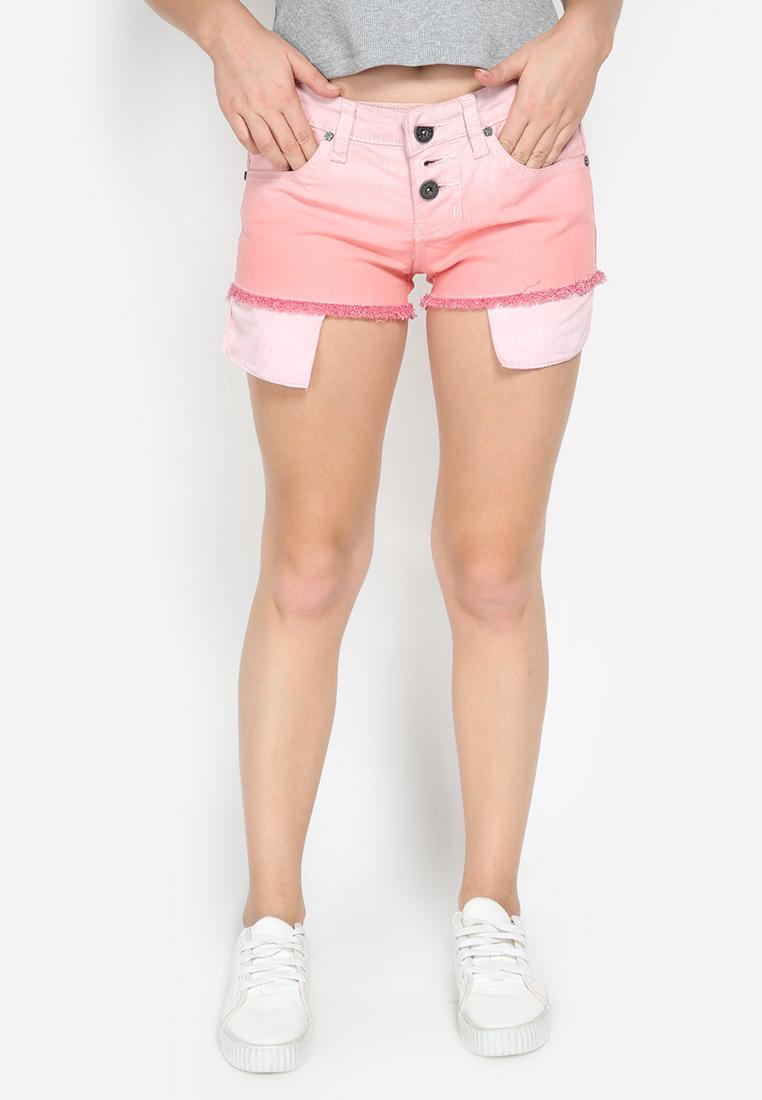 Ombre Short Pants Pink Mobile Power Ladies - K5514