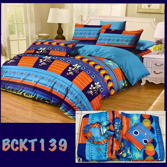 Terbaru Bedcover Set Flat Murah Kode BANGSA-sprei128