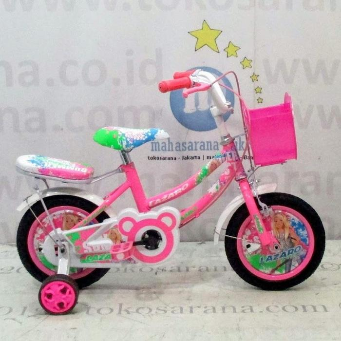 Jabodetabek Go-Send 12in Lazaro Summer Fest CTB Sepeda Anak Perempuan - gzzYr5