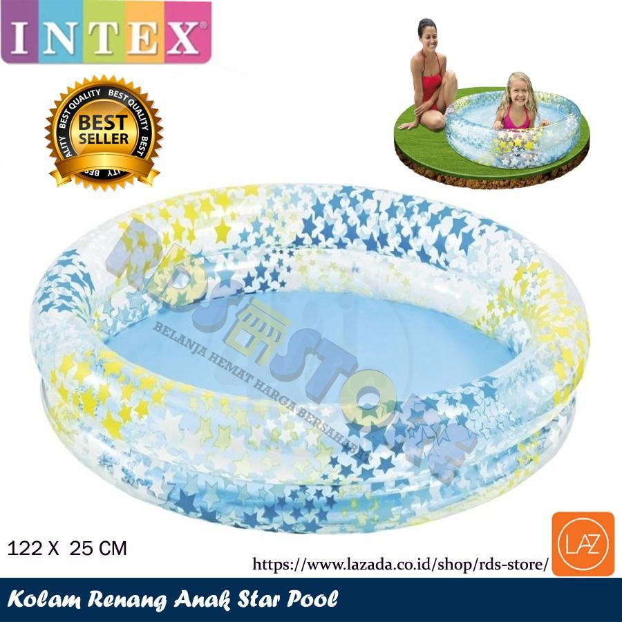 Cek Harga Baru Kolam Mandi Anak Plus Mainan Bola Tercinta Keranjang Besar Intex Renang Star Pool 122x25cm